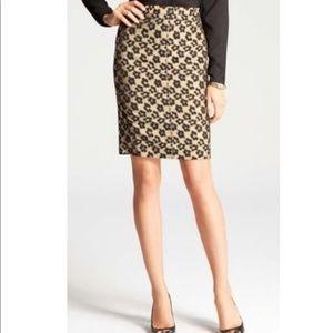 ANN TAYLOR Floral Maven Jacquard Pencil Skirt